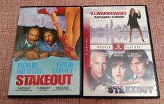 Stakeout, Another Stakeout & V.I. Warshawski DVD Lot of 2 Movies: Comedy Estevez
