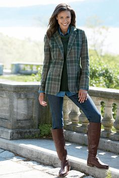 Boots with Casual Outfit for Winter Fashion Blazer Fashion, Fall Fashion Outfits, Fall Fashion Trends, Women's Fashion Dresses, Winter Fashion, Womens Fashion, Fashion Styles, High Fashion, Fashion Ideas