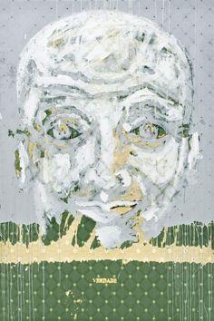 Roberto Coda Zabetta, Verdade, 2012, smalto su tessuto, cm 180x120