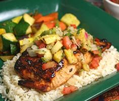 Day 14 Tip and New Recipe: Salmon Cutlets with Pineapple Salsa