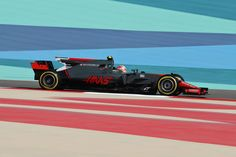 Kevin Magnussen of Denmark driving the Haas Team HaasFerrari Ferrari on track during practice for the Bahrain Formula One Grand Prix at. Haas F1 Team, Formula One, Grand Prix, Denmark, Ferrari, Track, Racing, Running, Runway