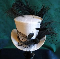Bridal Mini Top HatBlack and White Burlesque Mini от BizarreNoir