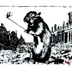 "46 Likes, 4 Comments - artrepublic.com (@artrepublic) on Instagram: ""But first, let me take a selfie📷 'Rat - After the Apocalypse' by Blek le Rat - @blekleratoriginal…"""