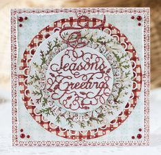 #cheeryld Hi my dear friends! It's Irina Gerschuk with you today. And I'd like to share with you my new card. Dies used: - Circle-Classic LG Stackers Nesting Dies - XL-4 - Joy to the World Wreath - B481 - Seasons Greetings Ornament - B480 - Snowflake Doily w/Angel Wing - DL279 - Dianza Doily w/Angel Wing - DL262 www.CheeryLynnDesigns.com