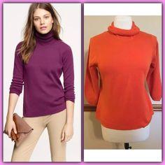 J. Crew orange turtleneck sweater top large $90 Item 52383.Originally $89.50 on the official J. Crew website. J. Crew Sweaters Cowl & Turtlenecks