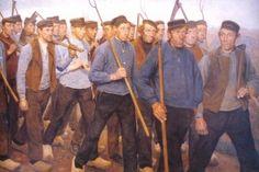 """Ferdinan Hart Nibbrig 1866-1915. """"Erfgooiers in protest""""."""