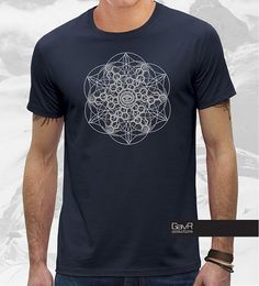 Design By Humans Geometrical Lotus Symbol Boys Youth Graphic T Shirt