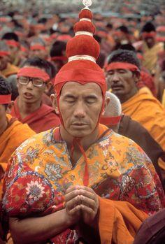 Raghu Rai - India. Dharamsala. Tibetan monk refugee.