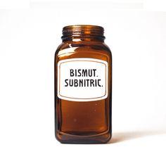 Bismut Subnitric Apothekerglas