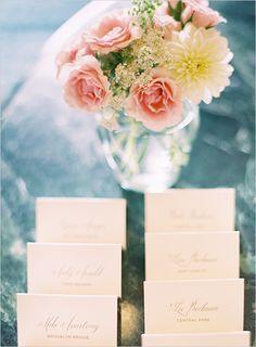 Wedding Program and Placecards on Wedding Chicks blog « Lettering Art Studio