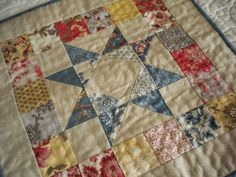 A Quilting Life - a quilt blog: Simply Small Scrappy Patchwork Pillow using Candy Squares