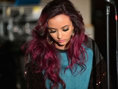 ombre purple hair...