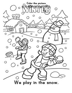 winter ausmalbilder - ausmalbilder für kinder | malen | pinterest | dibujos de navidad, navidad