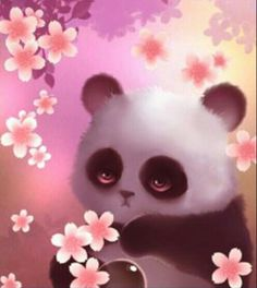 Kawaii Cute Wallpapers, Cute Panda Wallpaper, Panda Wallpapers, Niedlicher Panda, Panda Art, Panda Love, Cute Animal Drawings, Cute Drawings, Panda Kindergarten