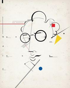 Kandinsky and Bauhaus Wassily Kandinsky, Art Bauhaus, Bauhaus Design, Abstract Words, Abstract Art, Minimalistic Design, Kunst Poster, Abstract Portrait, Art Graphique