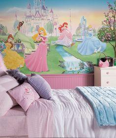 Dancing Princess Chair Rail Prepasted Wall Mural