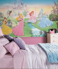 Disney princess wall mural!