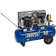 Draper 31253 50 Litre 230v 2.2kw Belt-Driven Air Compressor
