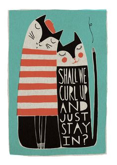 Shall We Curl Up - Fine Art Print (Large). $75.00, via Etsy.