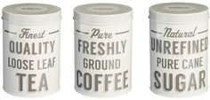 Mason Cash Baker Street Tea, Coffee and Sugar Canisters (Set of 3)