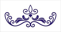 Stencil Flourish Scroll no 10 damask stencil ...for my dining room in black