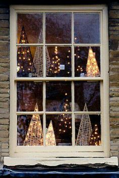 A Beautiful Country Christmas Window Christmas Fairy Lights, Merry Little Christmas, Noel Christmas, Country Christmas, Winter Christmas, All Things Christmas, Christmas Crafts, Christmas Windows, Xmas Lights