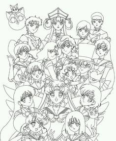 Sailormoon SailorStars. Sailor Senshi. Coloring Page.