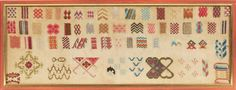 A 19th Century WoolWork Sampler ~ From The Collection Of The Late Regine Deforges
