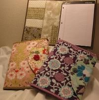 Writing Tablet or Notebook Cozy. Free sewing pattern!