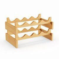 Pine Canopy Arapaho 8-bottle Stackable Wood Dakota Wine Rack #DiyWoodworkingSimple Stackable Wine Racks, Thanksgiving Day Football, Gifts For Cooks, Light Oak, Solid Oak, Rustic Style, Home And Garden, Bottle