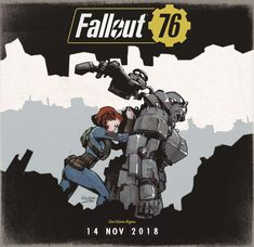"""thecollectibles: """"Art by Nabetse Zitro """" Fallout Power Armor, Fallout Fan Art, Fallout Cosplay, Vault Tec, Fall Out 4, Fallout New Vegas, Games Images, Post Apocalypse, Cat Memes"""