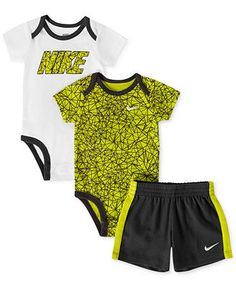 Nike Baby Boy Clothes Alluring Nike Baby Boys' 3Piece Bodysuits & Shorts Set  Kids Baby Boy 024 Design Ideas