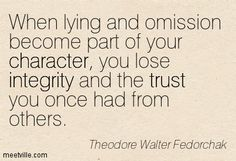 omission is the same as lying quote - Google Search