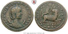 RITTER Kilikien, Anazarbos, Herennia Etruscilla, Dionysos, Panther #coins