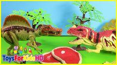 Videos de Dinosaurios para niños Ceratosaurus v/s Spinosaurus- Juguetes de Dinosaurios ToysForKidsHD