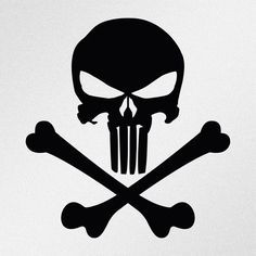 Punisher Skull Crossbones Car Body Window Bumper Vinyl Decal Sticker #Oracal