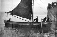 3 men in a fishing boat at Helvick Pier, Ring, Co. Waterford, Ireland c1930. The photo was taken during a regatta Sailing Boat, Vintage Photos, Old Photos, Sailboat, Irish Culture, Photo Archive, Irish Eyes, Emerald Isle, Sea