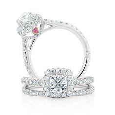 The Michael Hill Designer Bridal Collection   1.95ct TW Diamond Allegro bridal set.