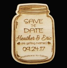 Personalized Rustic Country Wooden Mason Jar by ExclusivelyYourLLC
