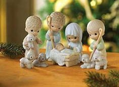 Precious Moments Nativity Set -I gave mine to my daughter for her children to enjoy.