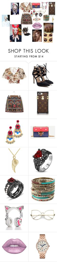 """SEVENTEEN Jeonghan"" by btsloveforlife on Polyvore featuring River Island, WithChic, Elizabeth Cole, Amrita Singh, Brookstone, Lime Crime and Jaeger-LeCoultre"