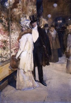 A New Year's Nocturne, New York Childe Hassam, 1892