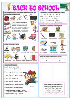 Back to school worksheets, activities teaching english, teac Teaching English Grammar, English Vocabulary, Grammar Lessons, Education Quotes For Teachers, Quotes For Students, Education English, Elementary Education, English Lessons, Learn English