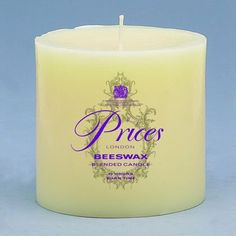 Prices Candles Beeswax Round Pillar Holder