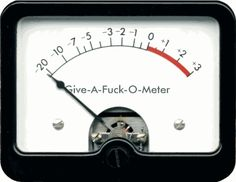 Give a Fuck Ometer