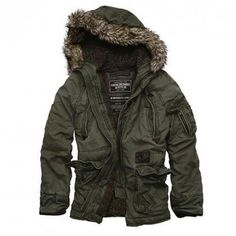 Abercrombie Winterjacke Indigo Washington Parka günstig billig gut