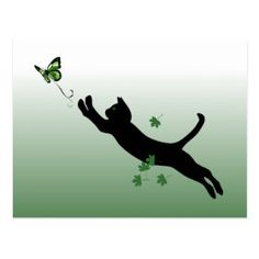 Credit Card | Zazzle.com Cat Eye Tattoos, Cat Tattoo, Cool Tattoos, Credit Card Machine, Green Butterfly, Sales And Marketing, Postcard Size, Party Hats, Cat Art