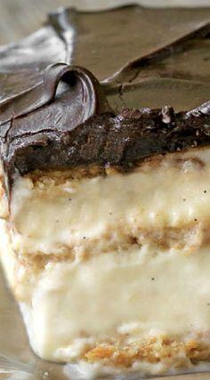 No-Bake Chocolate Eclair Cake Recipe #dessert