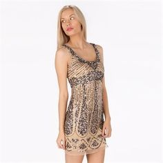 a87185f0c46 Jump Apparel Juniors Beaded and Sequined Scoop Neck Dress