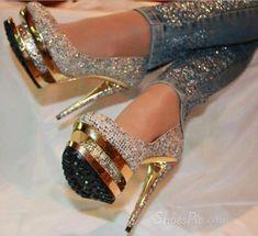 """legsandhighheels: """"Hot Luxurious Rhinestone Platform Stiletto Heels"""""""